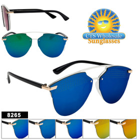 Mirrored Sunglasses - Style #8265 (Assorted Colors) (12 pcs.)