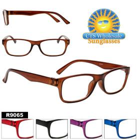 Wholesale Reading Glasses - R9065 (12 pcs.) Assorted Colors ~ Lens Strengths +1.00—+3.50