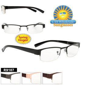 Wholesale Readers - R9107 Spring Hinge! (12 pcs.) Assorted Colors ~ Lens Strengths +1.00—+3.50