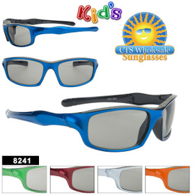 Kids Sports Sunglasses - Style #8241 (Assorted Colors) (12 pcs.)