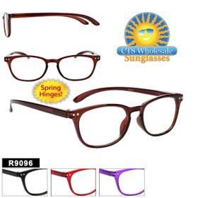 Plastic Reading Glasses - R9096 Spring Hinge!