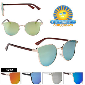Retro Fashion Sunglasses - Style #8261 (Assorted Colors) (12 pcs.)