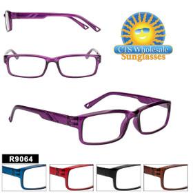 Bulk Readers - R9064 (12 pcs.) Assorted Colors ~ Lens Strengths +1.00—+3.50