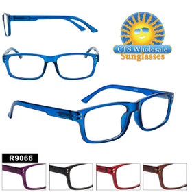 Reading Glasses by the Dozen - R9066 (12 pcs.) Assorted Colors ~ Lens Strengths +1.00—+3.50