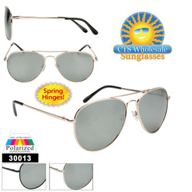 Polarized Mirrored Aviators  - Style #30013 (Assorted Colors) (12 pcs.)