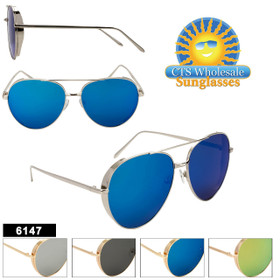 Hipster Aviators  - Style #6147 (Assorted Colors) (12 pcs.)
