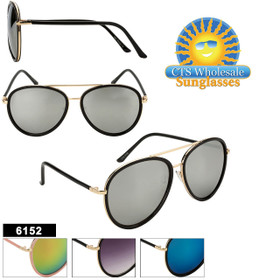 Wholesale Fashion Aviators - Style #6152 (Assorted Colors) (12 pcs.)