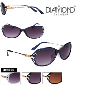 Bulk Diamond™ Rhinestone Sunglasses - DI6020 (Assorted Colors) (12 pcs.)