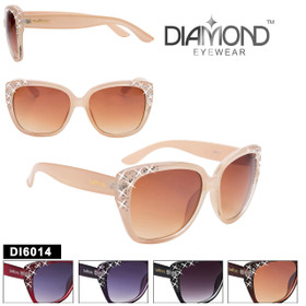 Bulk Diamond™ Rhinestone Sunglasses - DI6014 (Assorted Colors) (12 pcs.)