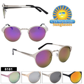 Bulk Mirrored Sunglasses - Style #6161 (Assorted Colors) (12 pcs.)