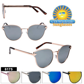 Women's Cat Eye Sunglasses in Bulk  - Style #6175 (Assorted Colors) (12 pcs.)