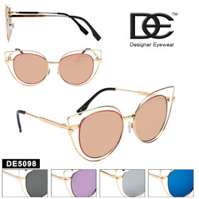 Cat Eye Sunglasses by DE™ Designer Eyewear - Style #DE5098 (Assorted Colors) (12 pcs.)