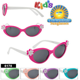 Wholesale Kid's Sunglasses - Style #6178 (Assorted Colors) (12 pcs.)