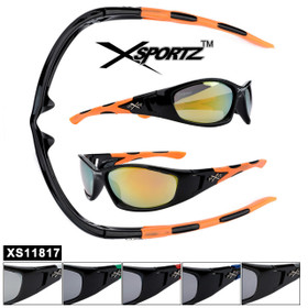 Bulk Xsportz™ Sports Sunglasses XS11817 (Assorted Colors) (12 pcs.)