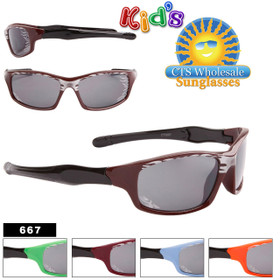 Kid's Bulk Sunglasses with Flames - Style #667