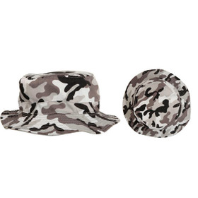 Grey Camo Fishing Hat