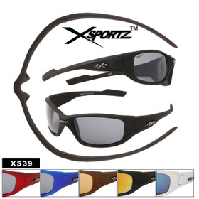 Sports Sunglasses XS39 Xsportz™(Assorted Colors) (12 pcs.)