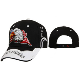 "Baseball Caps Wholesale ""United States"" C5213 Black"