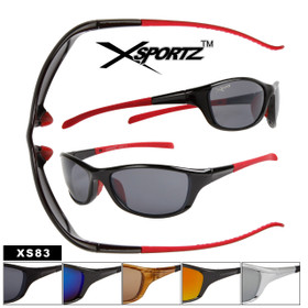 Xsportz Sports Sunglasses XS83 (Assorted Colors) (12 pcs.)