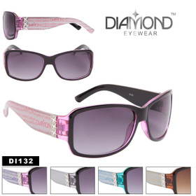 Diamond™ Eyewear Rhinestone Sunglasses by the Dozen - Style #DI132 (Assorted Colors) (12 pcs.)