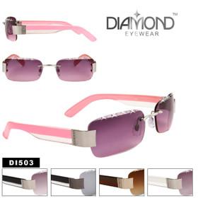 Diamond™ Eyewear Wholesale Rhinestone Sunglasses - Style # DI503