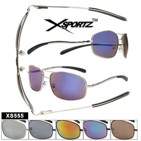 Xsportz™ Square Aviator Style with Metal Frames XS555 (Assorted Colors) (12 pcs.)