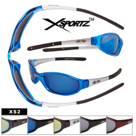 Xsportz™ Men's Sports Sunglasses XS2 (Assorted Colors) (12 pcs.)
