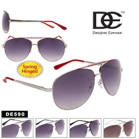Metal Aviator Sunglasses DE590 Spring Hinge