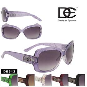 DE Designer Eyewear Women's Fashion Sunglasses DE612 (Assorted Colors) (12 pcs.)