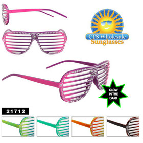 Shutter Shades ~ Glow in the Dark Frames 21712 (Assorted Colors) (12 pcs.)