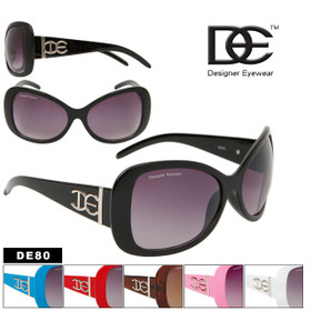 DE Designer Eyewear Fashion Sunglasses Wholesale - DE80 (Assorted Colors) (12 pcs.)