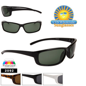 Polarized Sports Sunglasses 2092 (Assorted Colors) (12 pcs.)