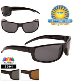 Bulk Polarized Sports Sunglasses - Style #2091 (Assorted Colors) (12 pcs.)
