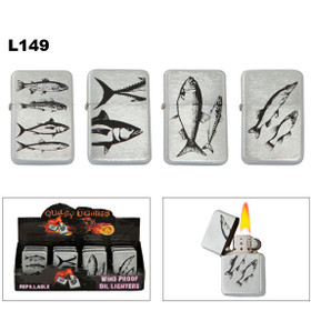 Oil Lighters Fish ~ Lighter Fluid NOT Included L149 (12 pcs.)