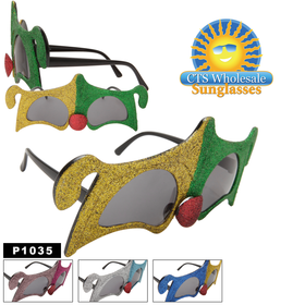 """Jester"" Party Glasses  ~ P1035 (12 pcs.) (Assorted Colors)"