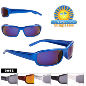 Bulk Sport Sunglasses - Style #9066 (Assorted Colors) (12pcs.)