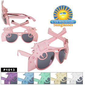"Party Glasses ""Guns"" ~ P1013 (12 pcs.) (Assorted Colors)"