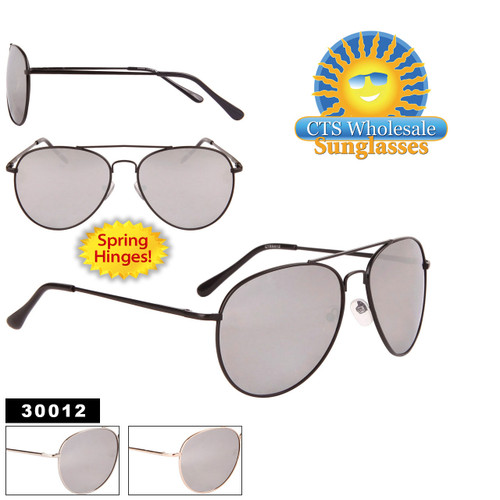 Mirrored Aviators with Spring Hinges