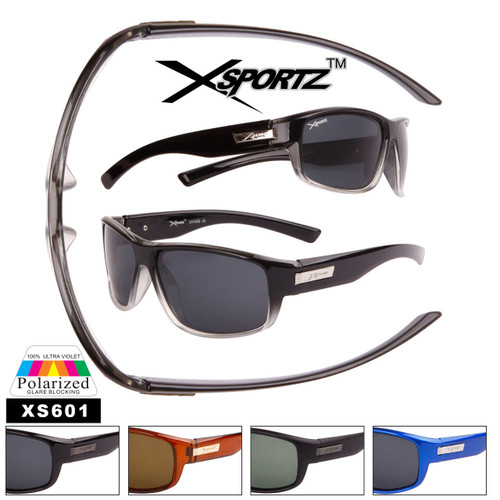 Full Wrap Around Frame Polarized Sport Sunglasses - Style #XS601