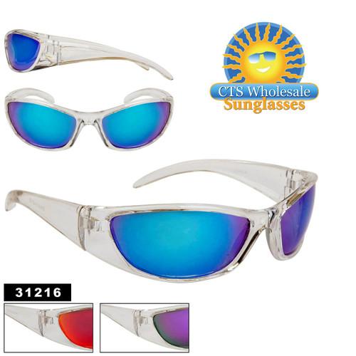 Clear Frame Sport Sunglasses 31216