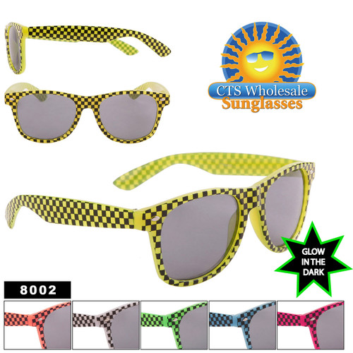 Glow In The Dark Sunglasses - Wholesale California Classics - Style #8002