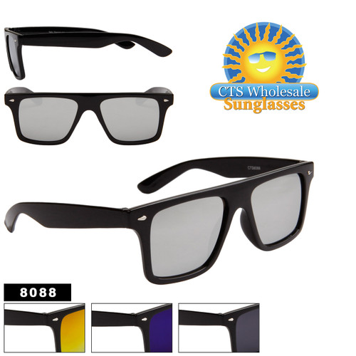 Black Mirrored California Classics Sunglasses - Style # 8088