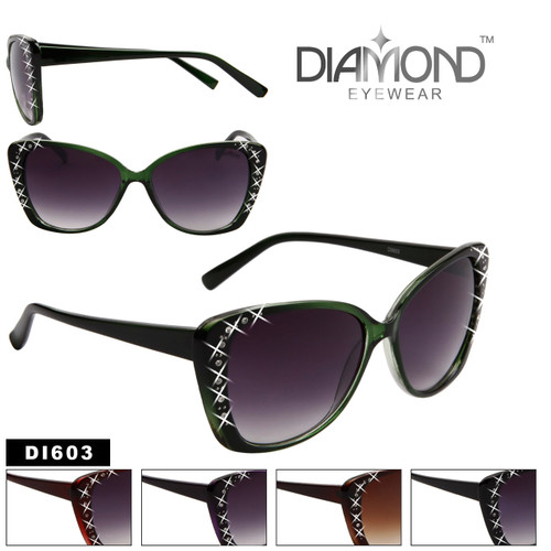 Wholesale Cat Eye Sunglasses with Rhinestones  - Style # DI603