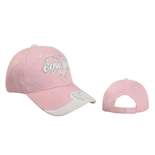 "Wholesale Baseball Cap ""Cowgirl Babe"" Pink"