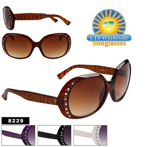 Animal Print Rhinestone Sunglasses 8229