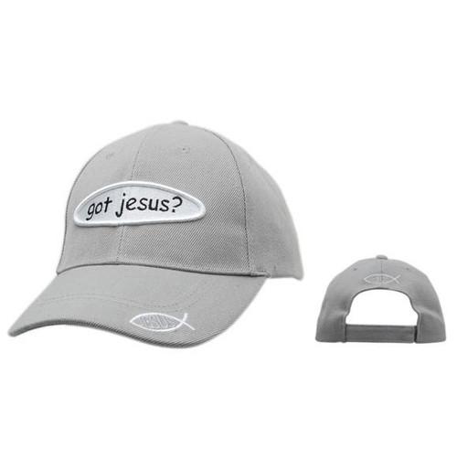 "Wholesale Christian ""Got Jesus?"" Cap~Grey"