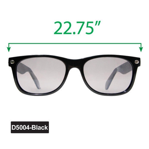 Large California Classics Sunglasses - Display D5004-Black