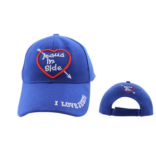 "Blue ""Jesus Inside"" Christian Cap C563"