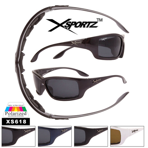 Men's Polarized Xsportz ™ Sunglasses - Style #XS618 Foam Padded