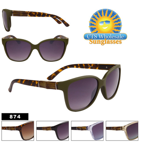 Women's Horn Rim Fashion Sunglasses - Style #874